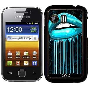 Funda para Samsung Galaxy Y (S5360) - Labios Aqua Barra De Labios Color Del Agua by BluedarkArt