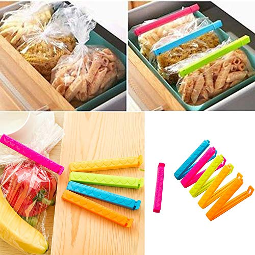 Elevin(TM)  5Pcs Kitchen Storage Food Snack Seal Sealing Bag Clips Sealer Clamp Plastic Tool ()