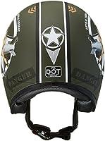Vega X380 Helmet with Bombs Away Graphics (Flat Green, Large) by Vega Helmets
