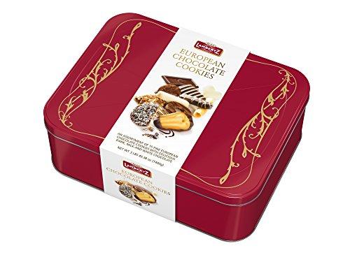 Lambertz European Chocolate Cookies, 3 lbs Gift Tin (Red) (Gift Tin Red)