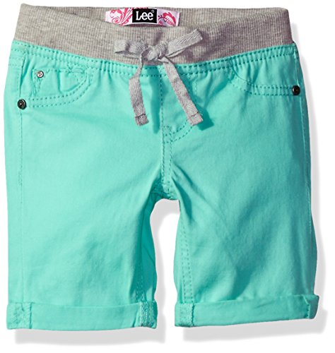 LEE Toddler Girls' Fashion Bermuda Short, Butterfly Sea Green, (Girls Knit Bermuda Shorts)