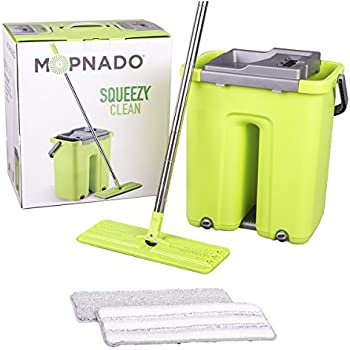 Amazon Com Mopnado Squeezy Clean Self Cleaning Flat Mop