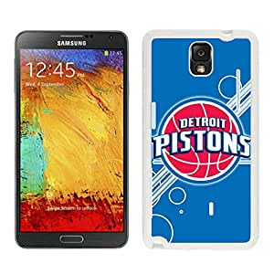 Fashionable Antiskid Cover Case For Samsung Galaxy Note 3 N900A N900V N900P N900T With Detroit Pistons 12 White Phone Case
