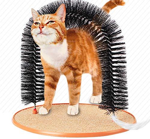 Morezi Soft Pet Cat Arch Self Grooming & Massaging Cat Toy Kitties Cat Arch Hair Trimming Brush Self...