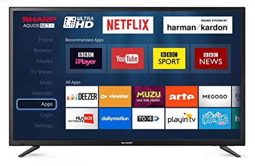Sharp LC-49CUG8052K 49 4K Ultra HD SMART LED TV 3840 x 2160 Black 3x HDMI...