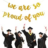 Gold Glittery We are So Proud of You Banner