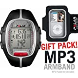 Polar RS300XBK Heart Rate Monitor Black with MP3 Armband