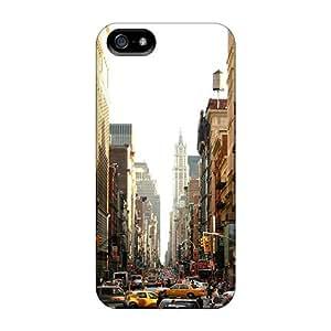 Iphone 5/5s Case Bumper Tpu Skin Cover For New York Street Accessories