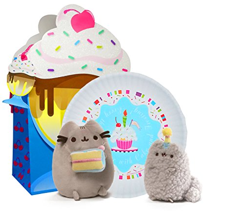 Pusheen Birthday Gift Set - Birthday Pusheen and Stormy Collectible Set, Happy Birthday Plate