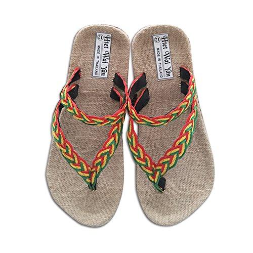 @Sandals Persönlichkeit Pantoffeln, Flip-Flops, Herren Zehen, Schweißabsorbierende Lässige Handgemachte Leinen, Hausgemachten Pantoffeln.