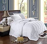 California King White Down Alternative Comforter with Corner Tab 300TC 60oz Fill All Season Duvet Insert