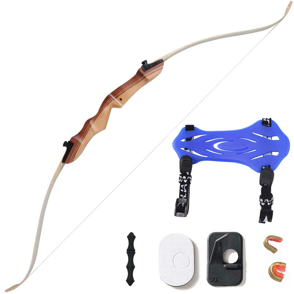 Huntingdoor 48 Archery Beginner Bow 16Lbs 20 Lbs Take Down Recurve Children Youth Bow White – Right Hand