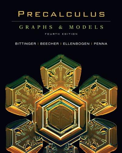 Precalculus: Graphs & Models