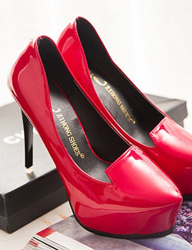 GGX/Damen Schuhe Patent Leder Sommer Heels Heels Casual Stiletto Heel andere schwarz/rot black-us7.5 / eu38 / uk5.5 / cn38
