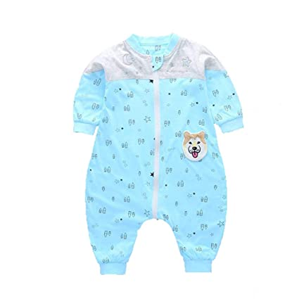 Gleecare Saco de Dormir para bebé,Color patrón algodón Fractura Pierna Saco Transpirable chupando Sudor