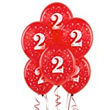 #2 Red 11″ Matte Balloons (6 count), Health Care Stuffs