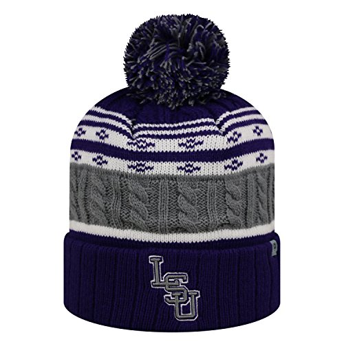 Top of the World LSU Tigers Official NCAA Cuffed Knit Altitude Beanie Stocking Stretch Sock Hat Cap 811154