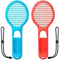 Tennis Racket for Nintendo Switch Joy-con, Grips for Switch Joy-con, Fit Somatosensory Games like Mario Tennis Aces