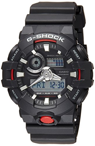 G-shock Ana Digi (Casio G-shock Ana Digi Black Men's Watch, 200 Meter Water Resistant with Day and Date GA-700-1A)