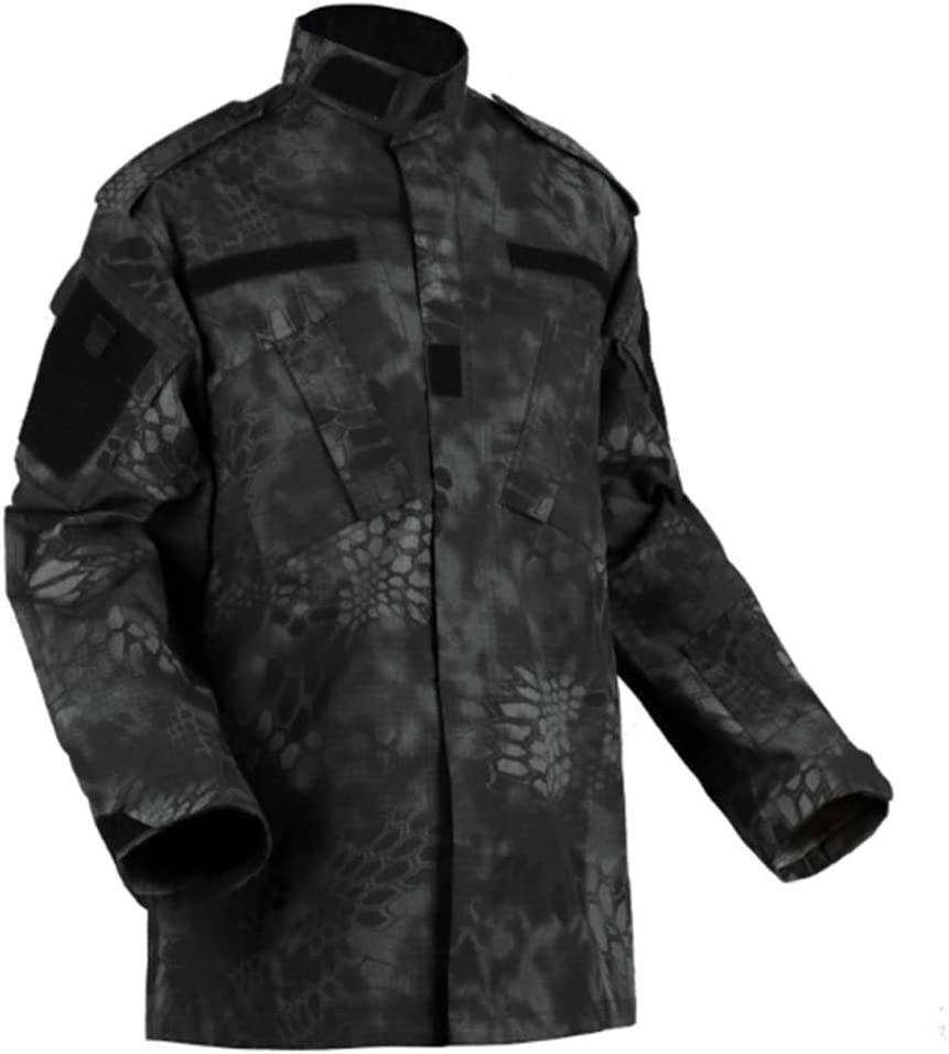 CIGONG Traje de Camuflaje Caza de Combate Camisa de Manga Larga Pantalones de Camuflaje multibolsillo Pantalones Traje de Alpinismo Traje de 2 Piezas Camuflaje (Size : XS): Amazon.es: Hogar