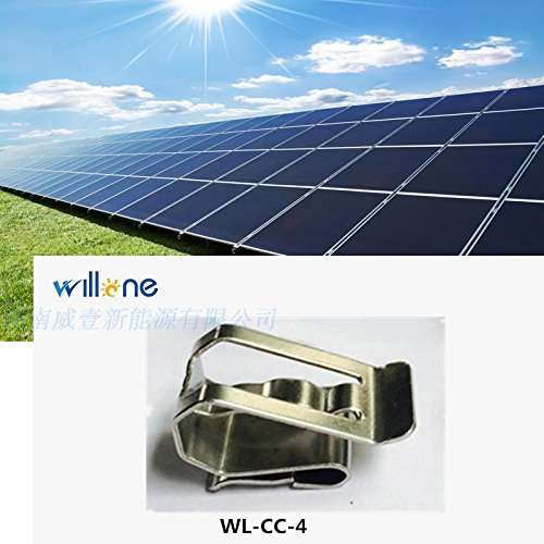 Willone 1000pcs/lot WL-CC-4 stainless steel solar cable clips ,cable clamp mounting installation by Willone