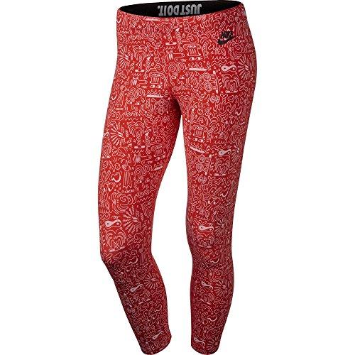 Nike Leg A See AOP Cropped Women's Leggings Red/White 777558-696 (Size XS)
