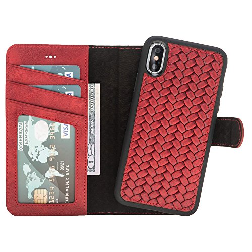 Iphone X Xs Detachable Leather Wallet Case With Magnetic
