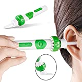 GbaoY New Upgrade Electric Ear Wax Remover Cleaner Kit Ear Pick Sucking and Vibrating with Soft Upgraded Silicone Replacement Heads (Green)