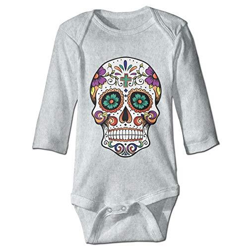 XHX Baby Sugar Skull Long Sleeve Romper Onesie Bodysuit Jumpsuit ()