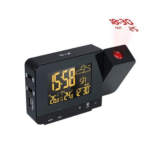 Proyección LCD Digital Reloj Despertador Relojes de proyector ...