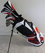 Mens Golf Club Set Complete - Driver, Fairway Wood, Hybrid, Irons, Putter & Stand Bag - All Graphite Shafts