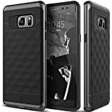 Galaxy Note 7 Case, Caseology® [Parallax Series] Textured Pattern Grip Case [Black / Black] [Shock Proof] for Samsung Galaxy Note 7 (2016) - Black / Black