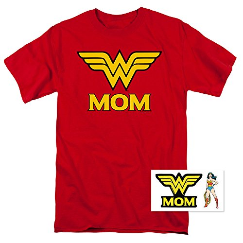 Wonder Woman Wonder Mom DC Comics T Shirt (Medium) Red