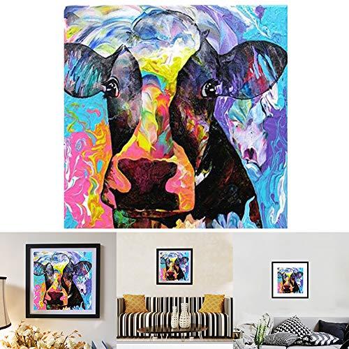 Maserfaliw Diamond Painting Kit, DIY 5D Full Resin Diamond Painting Mosaic Cow Cross Stitch Embroidery Home Decor - D221 -