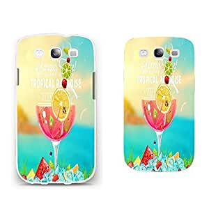 Colorful Samsung Phone Cases - Cute Vivid Color High Impact Print Hard Plastic Case Cover Shell for Samsung Galaxy S3 I9300 Phone Cases (summer juice BY633)