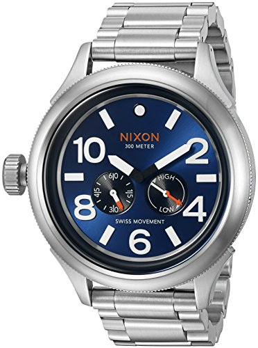 Nixon Men's 'October Tide' Quartz Metal and Stainless Steel Watch, Color:Silver-Toned (Model: A4741258-00)