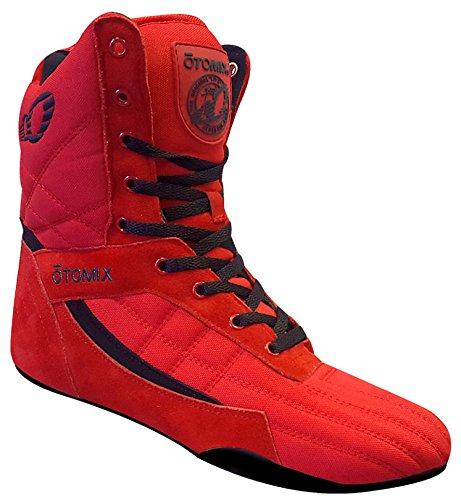 Otomix Pro Tko Super Salut Pro Boxeur Chaussures De Boxe Femmes Rouges