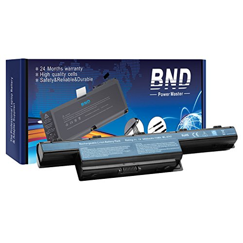 BND 9-Cell Laptop Battery for Acer / Gateway AS10D31 AS10D51 AS10D56 AS10D75 AS10D81 AS10D61 - 12 Months Warranty [Li-ion 6600mAh]