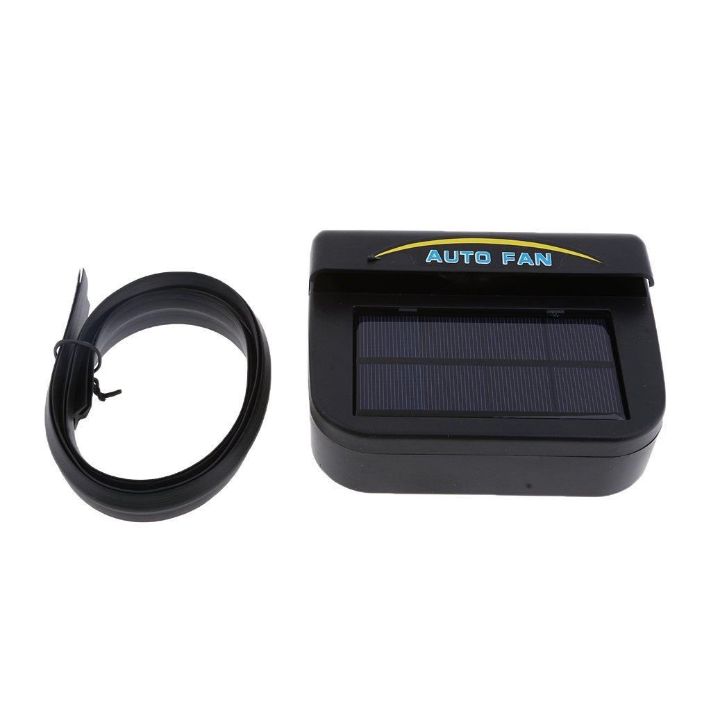 MagiDeal Solar Powered Car Air Vent Exhaust Fan Radiator Vent W/Ventilation Black