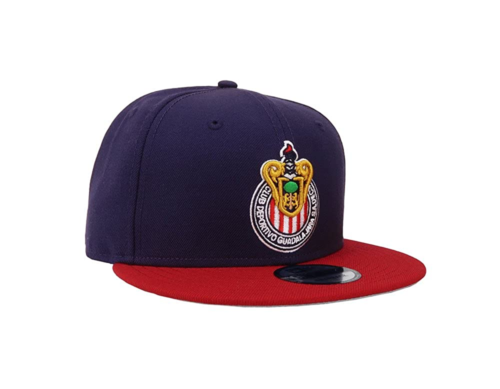 New Era 9Fifty Hat Chivas De Guadalajara Mexican League Blue/Red Soccer Cap at Amazon Mens Clothing store: