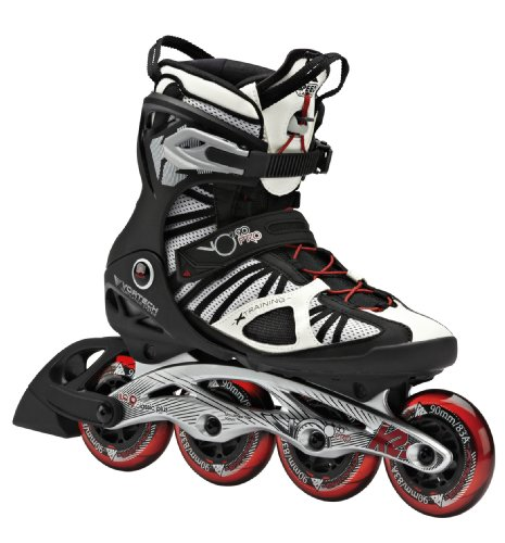 K2 Skate VO2 90 Pro Inline Skates, White/Black/Red, 9