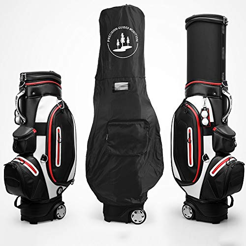 (YZPGRFB Profession Golf cart Bag, 5-Way Manager Full Length Split top, 8 Pockets and All The Necessary Features, with Scroll Wheel, Perfect Golf Game (Color : Black))