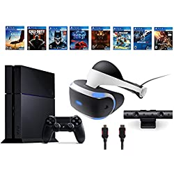 PlayStation VR Bundle 10 Items:VR Headset,Playstation Camera,PS4 Call of Duty Black Ops III,7 VR Game Disc Rush of Blood,Valkyrie, Battlezone,Batman:Arkham VR, DriveClub,Combat League,Eagle Flight
