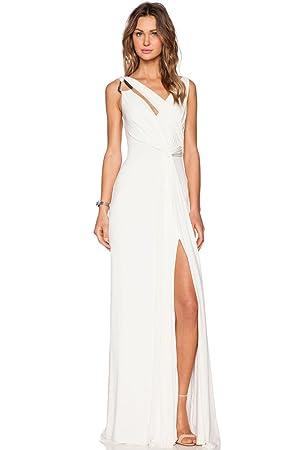 Vestido largo de noche para verano, talla M, color blanco