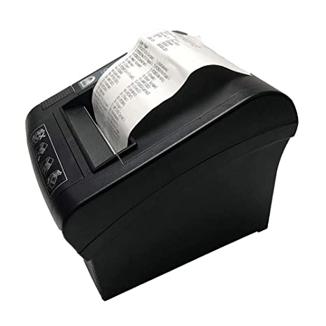 80mm Thermal Receipt Printer,NETUM WiFi POS Printer with Auto Cutter, USB Serial Ethernet LAN Port Support Cash Drawer ESC/POS