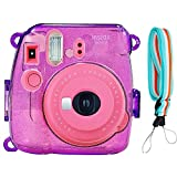 grape fuji instax - SAIKA Crystal Case for Fujifilm INSTAX Mini 9 Instant Camera (Grape) with Adjustable Shoulder Strap