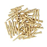 GOLTERS Step Down Golf Tees 2-3/4 Inch Length Wood Tees (Natural 25)