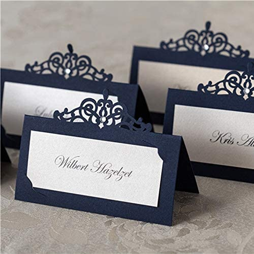 Set of 5 Personalised wooden wedding name place cards; flowers; anniversary.