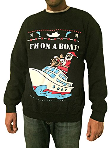 I'm on a Boat - Ugly Christmas Sweaters (Tacky Christmas Outfits)