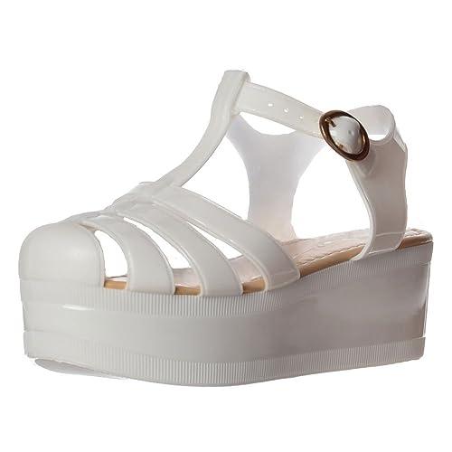 087abf6e7b6 Onlineshoe Women s Retro Jelly Gladiator Sandals Chunky Platform Wedges UK4  - EU37 - US6 - AU5